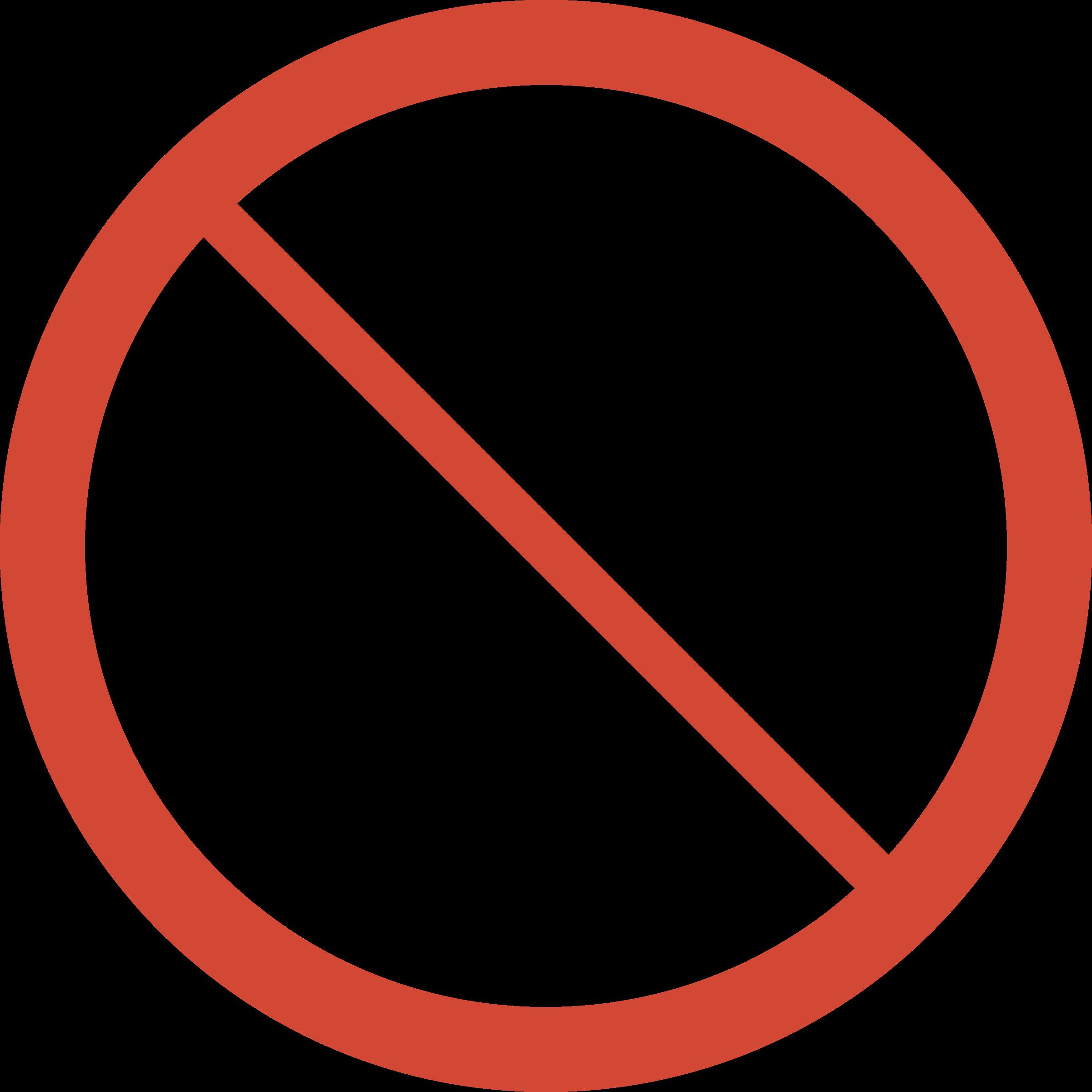 Library clipart sign Sign No Food Food No