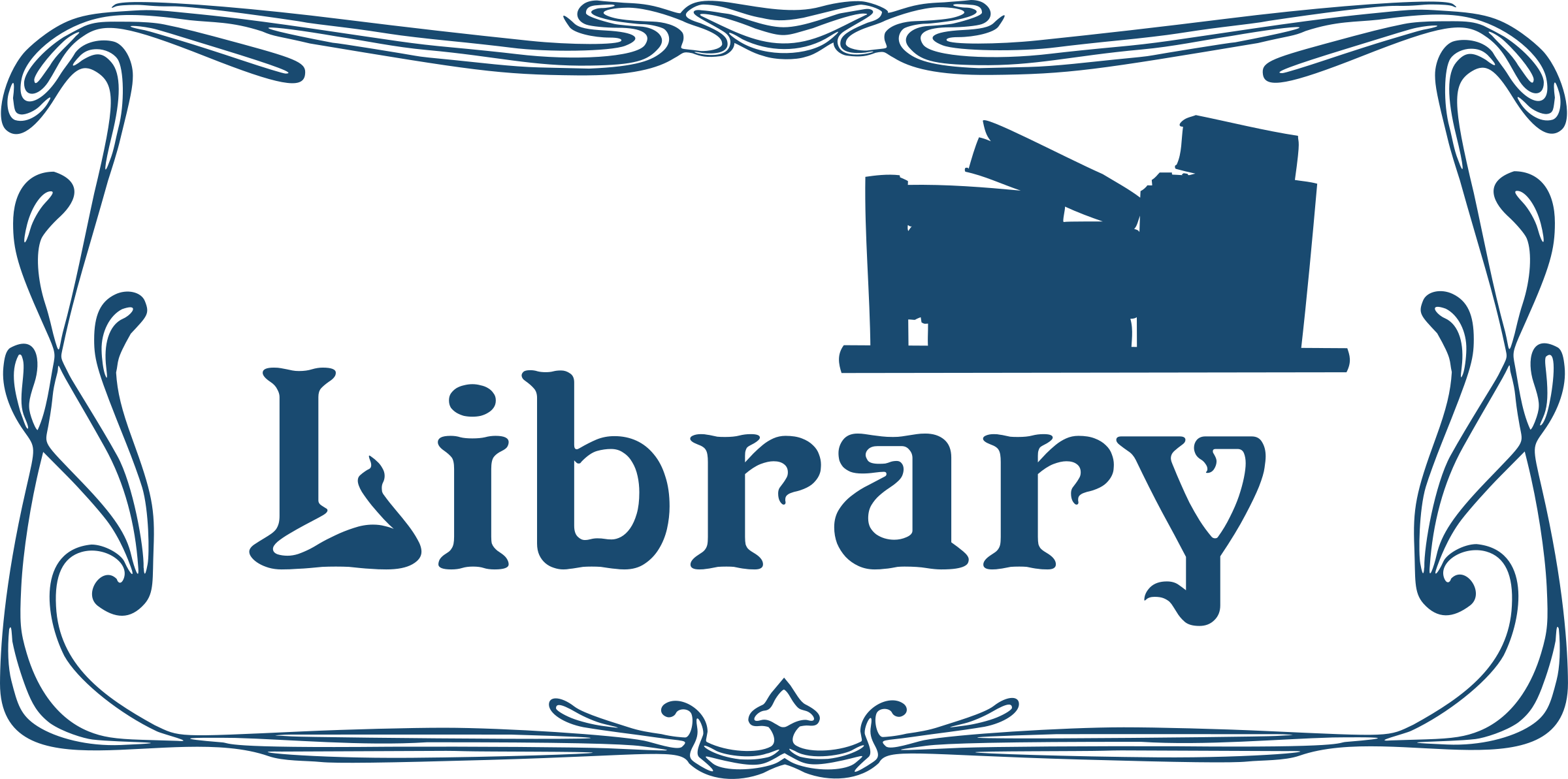 Library clipart sign Art Clipart Library Art Clip