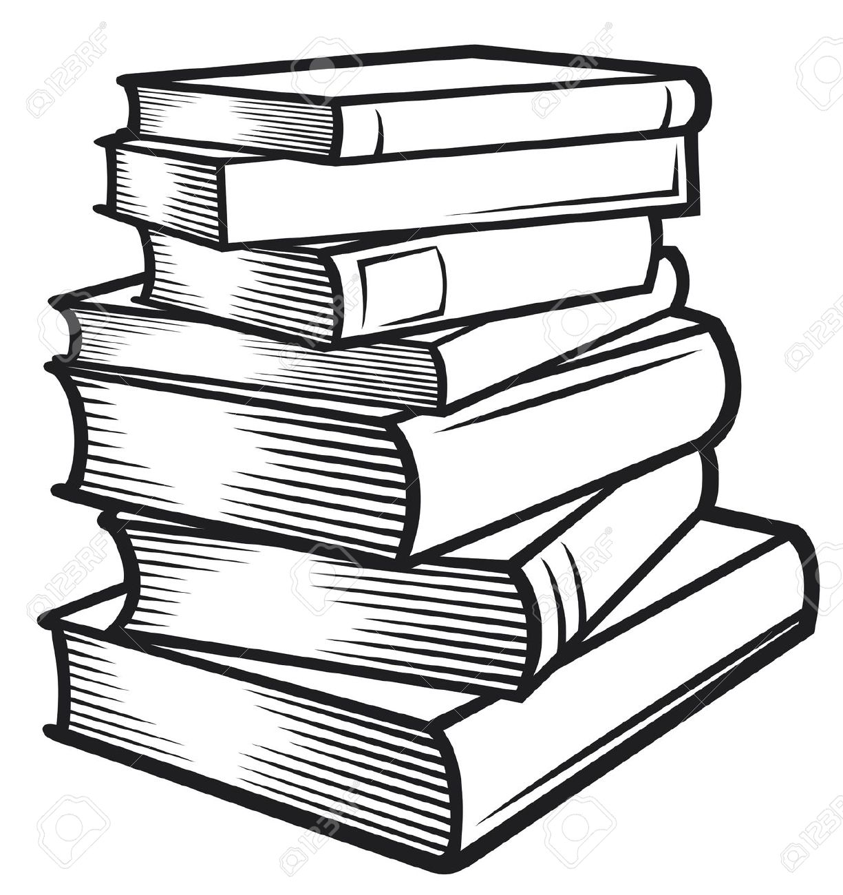 Bobook clipart black n white And Books Black Stack Stack