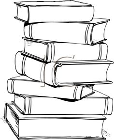 Bed clipart stacked Books black Royalty and Free