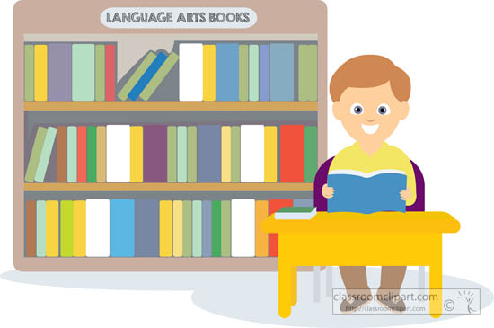 Desk clipart librarian In library sitting student student