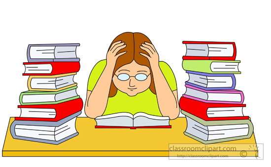 Library clipart student research Download Clip Art Stress Clip