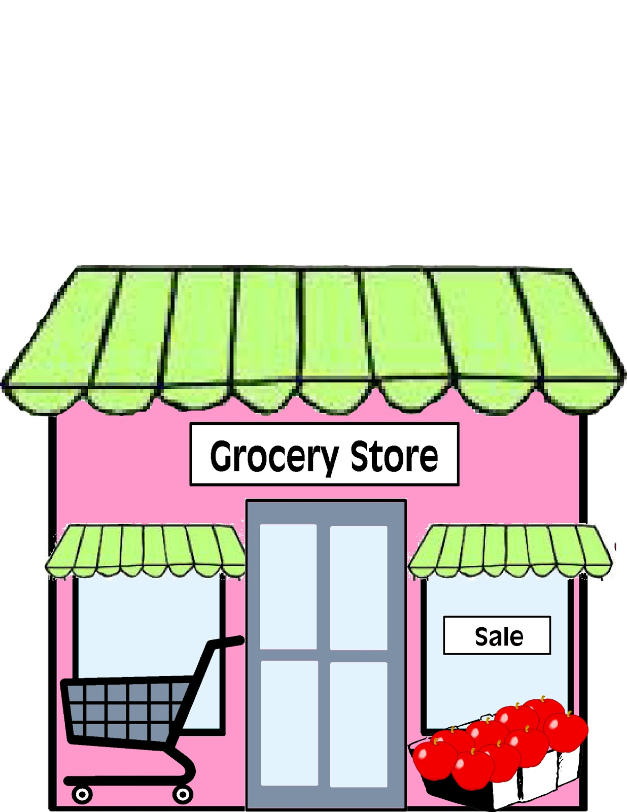 Library clipart supermarket building Free  Clip Grocery Clip