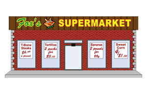 Library clipart supermarket building Clip Art Grocery Art store