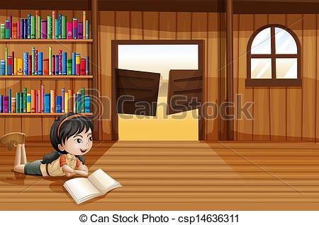 Library clipart vector A A csp14636311 reading with