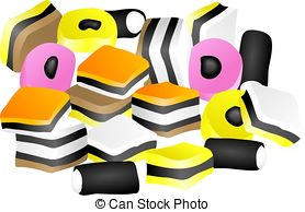 Licorice clipart Licorice Allsorts Art  and