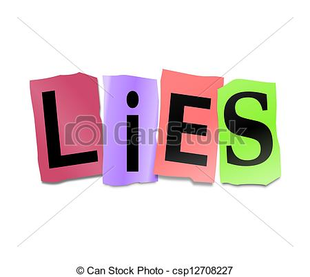 Lies clipart Depicting Lies Clip Illustration concept