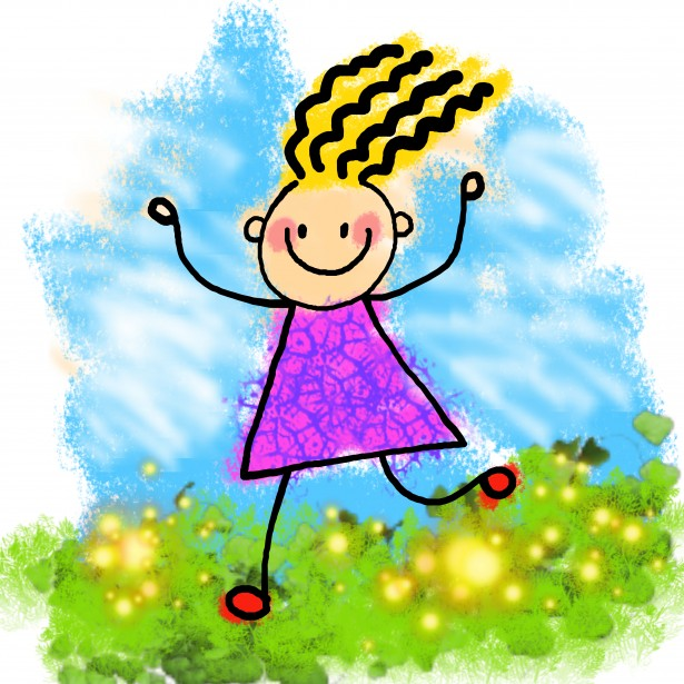 Life clipart happy Art collection Girl clipart Happy