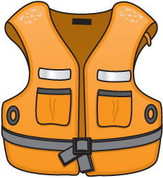 Baby clipart life preserver  Life Jacket Clipart
