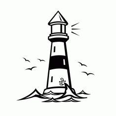 Lighhouse clipart black and white WhiteBlack Lighthouse gif And ·