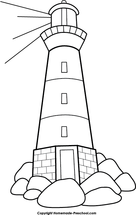 Lighhouse clipart black and white  Image Free Clipart Clipart