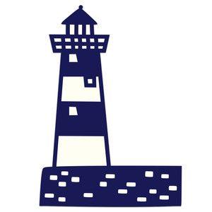 Lighhouse clipart navy blue #6