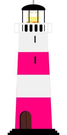 Lighhouse clipart pink Pixabay Nautical Light Image printable