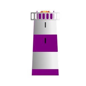 Lighhouse clipart purple  Purple gif) White and