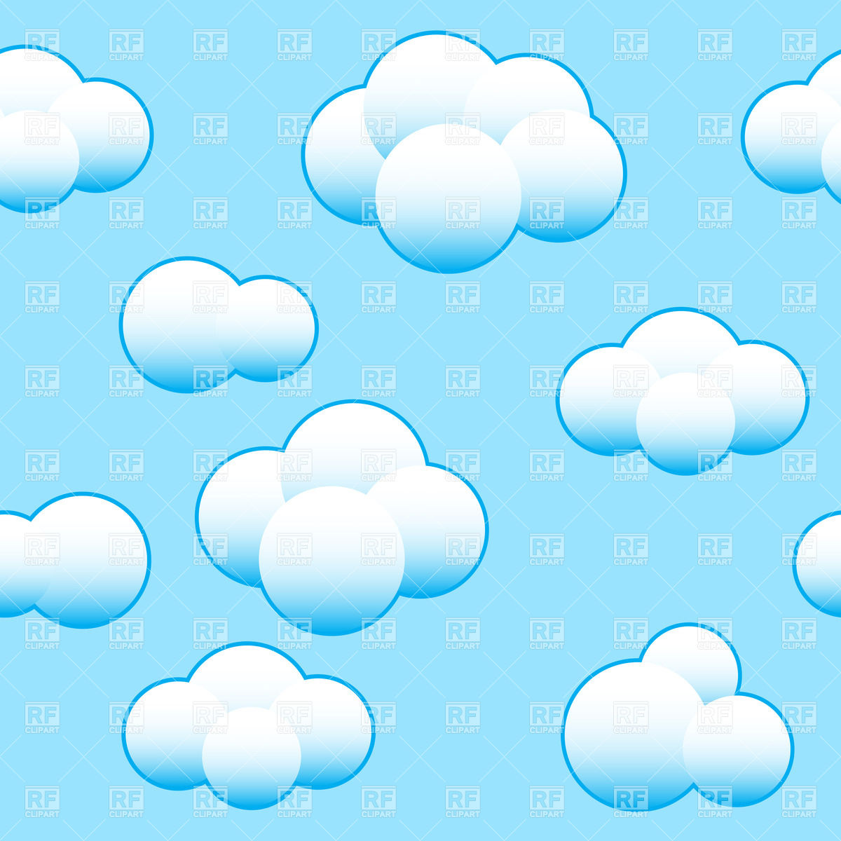 Clouds clipart blue background Art sky Vector white Clipart