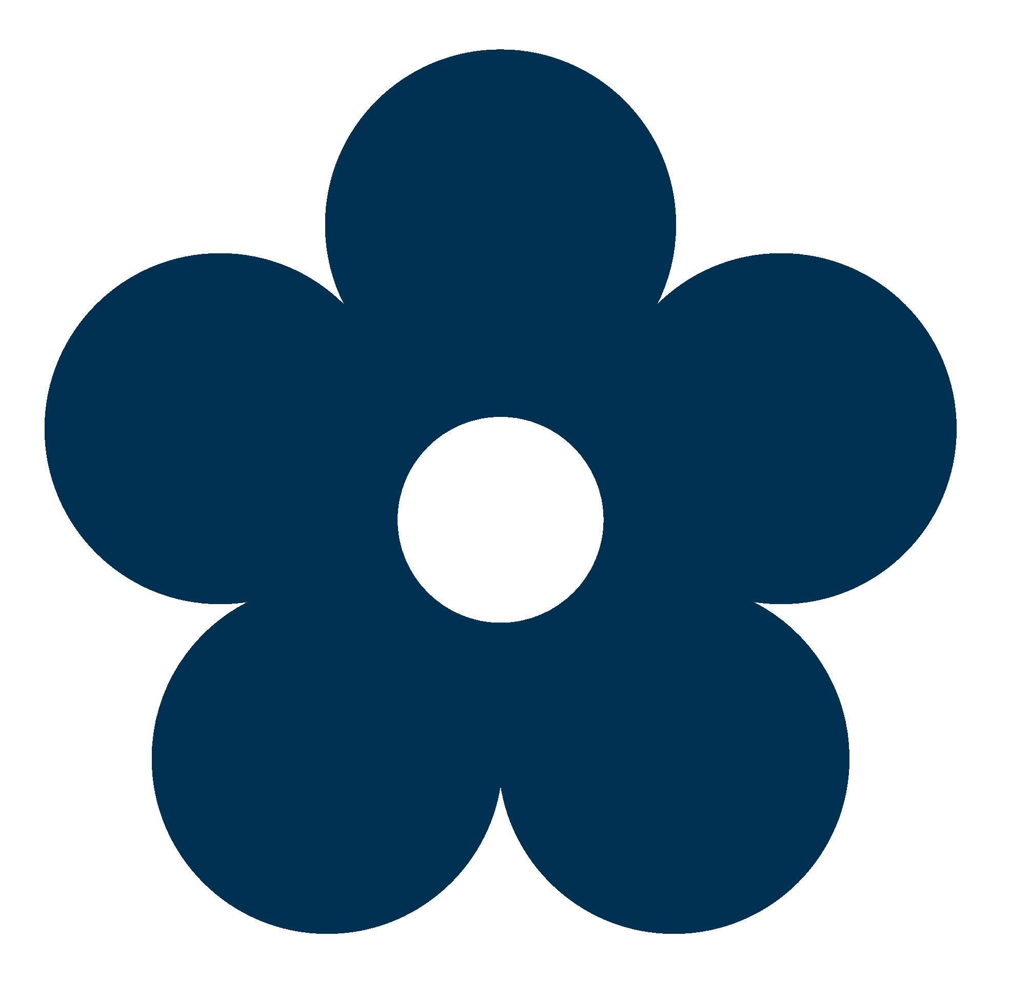 Simple clipart blue flower #4