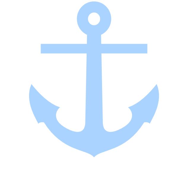Sailing Boat clipart themed Blue vector  com Anchor