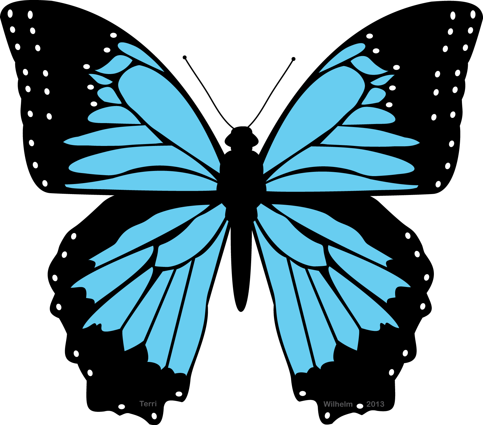 Drawn butterfly blue butterfly Blue blue butterfly clipart butterfly