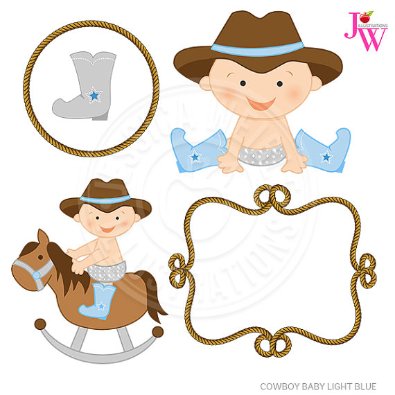 Cowboy clipart baby cowboy Digital  Cute This Light