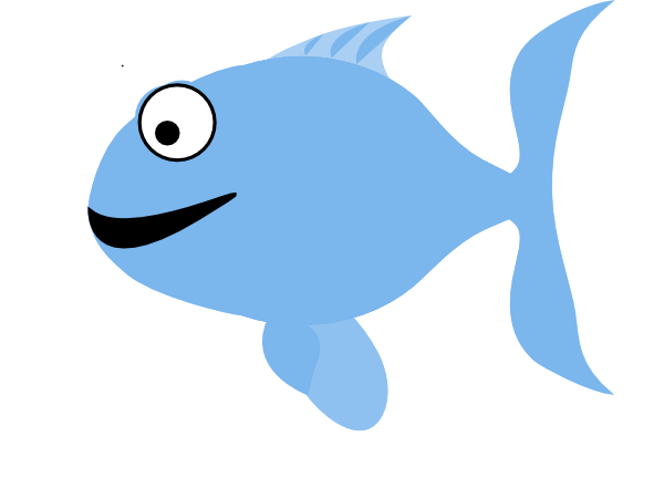 Light Blue clipart fish Image  Fish Clker Happy