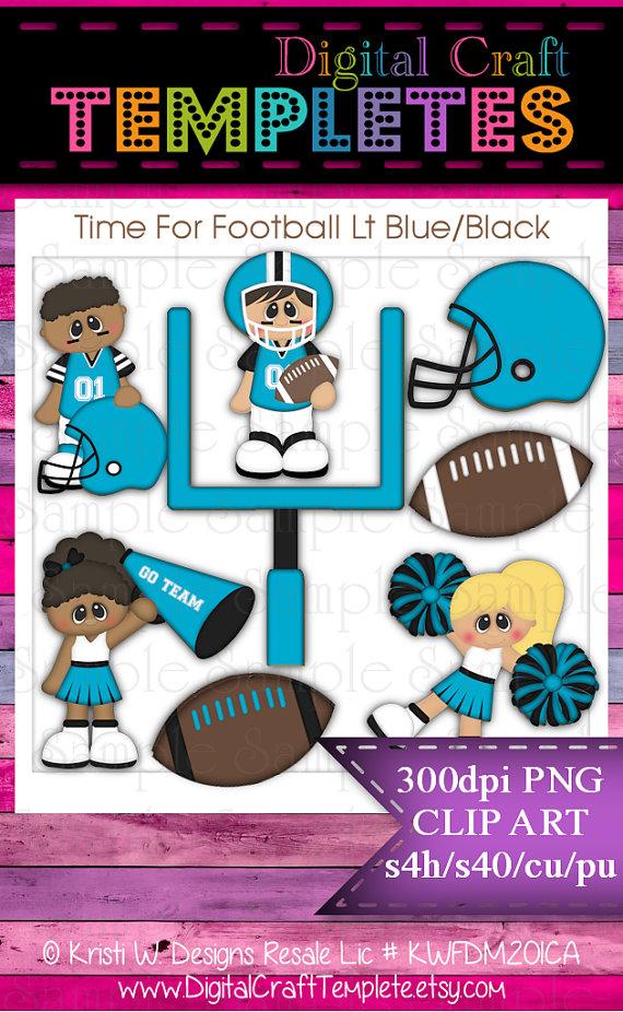 Football clipart light blue #6