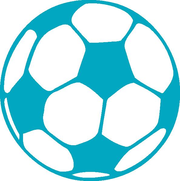 Football clipart light blue #5
