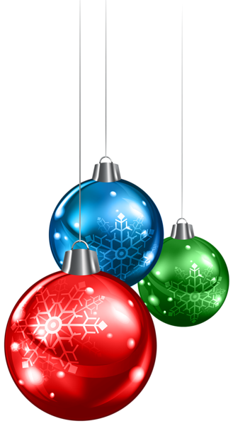 Christmas Lights clipart red and blue Balls  PNG Ornaments Christmas