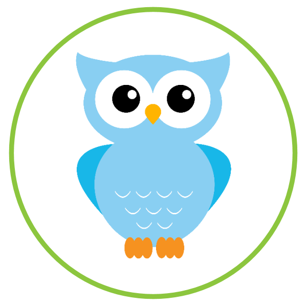 Light Blue clipart owl {& Baby Tags (o Free