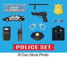 Light Blue clipart police equipment  Free handgun Police Vector