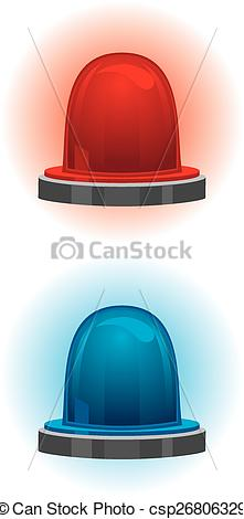 Light Blue clipart police equipment Emergency and of police Vector