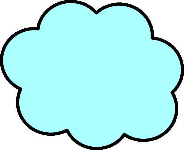 Clouds clipart light blue Clker as: vector art image