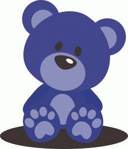 Light Blue clipart teddy bear The 20+ Silhouette on I'm