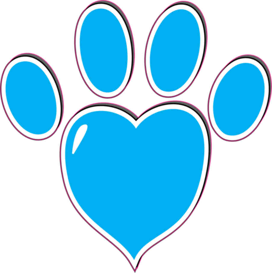 Light Blue clipart turquoise heart Heart Print Paw Vehicle Paw