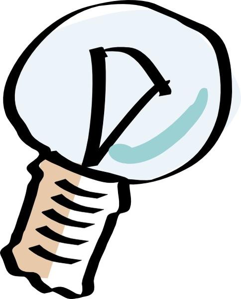 Bulb clipart cartoon Light drawing in office clip