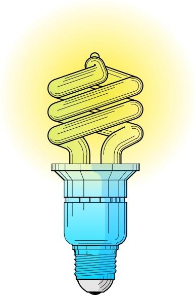 Bulb clipart cfl bulb In art Free Light Fluorescent