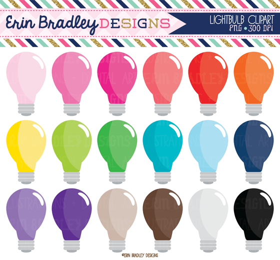 Colouful clipart light bulb 2015 August bulb banners weekend