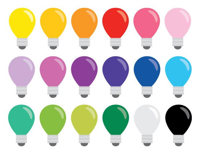 Colouful clipart light bulb Bulb Rainbow file is Lightbulb