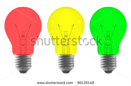 Colouful clipart light bulb Light Background Yellow Light Red