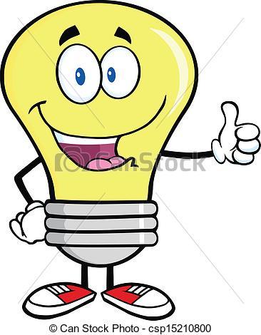 Light Bulb clipart cute Cute character  face bulb