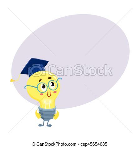 Light Bulb clipart cute Graduation Vector character light