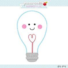 Light Bulb clipart cute #holiday Light by vector Cute