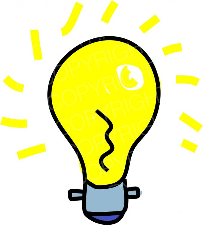 Bulb clipart helpful hint  Bulb Art Clipart Bulb