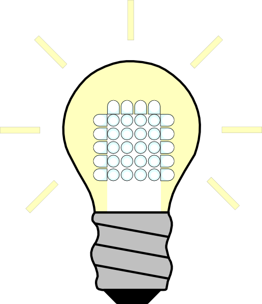 Bulb clipart led bulb As: at image Download Clker