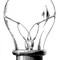Retro clipart lightbulb #5
