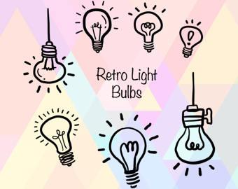 Retro clipart lightbulb #10