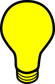 Bulb clipart yellow thing Light Images Light Clip Art
