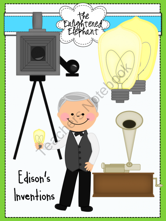 Bulb clipart kid inventor Thomas The from Edison Elephant