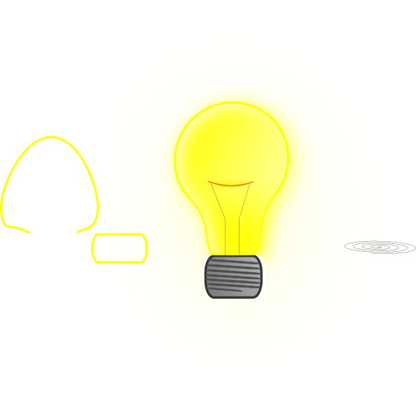 Bulb clipart yellow thing Com  as: vector clip