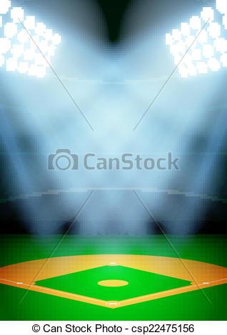 Light clipart baseball stadium The  csp22475156 Vector stadium