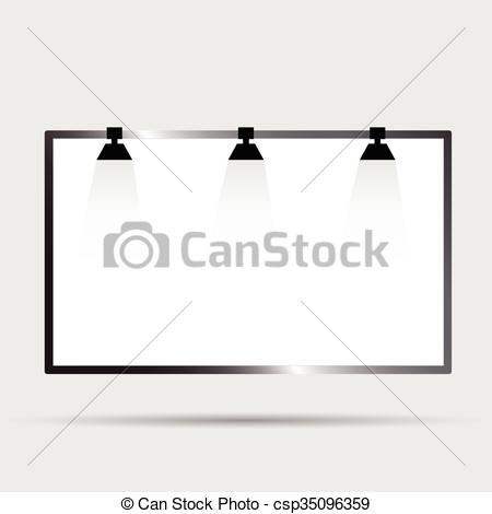 Light clipart city street Billboard Vector with with of